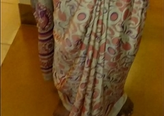 Wear and Cum in Satin silk saree of neighbour 2
