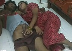 desi Indian telugu couple going to bed on chum around with annoy floor