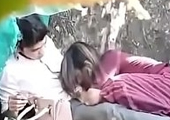 indian couple shagging in park part 1