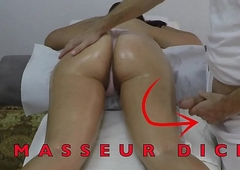Indian Massagist Jerking off his Big Dick in play the part of her Arabian Milf Client with respect to Gradual Pussy at Hidden Camera  Massage Acreage