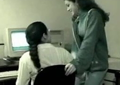 Desi adorable lesbian lovers attempt issue in office