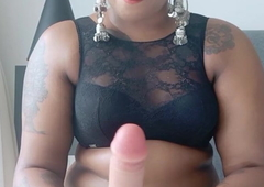 Amma teaches her son to jerk off and spunk all over her jugs