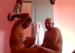 Indian aunty fucking age-old man for bossy