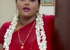 Red saree busty aunty
