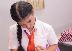 Indian - Bosomy woman drilled by her teacher 00