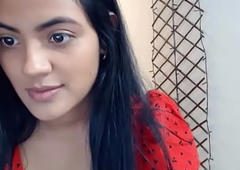 Sexy Indian girlfriend showing off her big chest