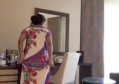 indian wife kajol in hotel full vacant show for husband