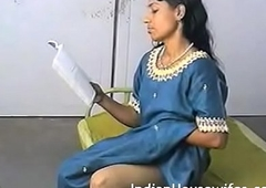 Amateur Indian Housewife Reading Dirty Magazing And Rubbing Pussy