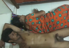 Desi Maid and Her Husband Caught Fucking