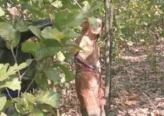 Super titillating desi column screwed in forest