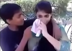 Indian teen kissing and pressing boobs in public