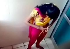 Hidden cam in ladies bathroom unladylike pissing