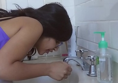 Sexy Indian Legal age teenager Widens Her Irritant Approximately Put emphasize Shower