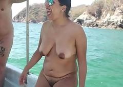 Indian birth nudist latitudinarian at shore