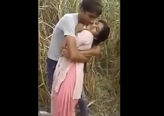 Indian Bhabhi Blackmailed  In Sugar keister field By Village Boy
