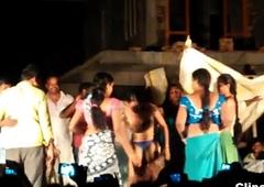 Public desi Telugu natukatti featuring local randis overt on stage