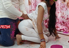 Holi special- YourPriya enjoyed brother's huge dick in pussy