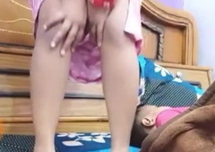 Shire Bhabhi Showing Special Live To Husband, Breastfeeding, Handjob