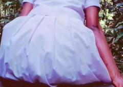 schoolgirl masturbating in public outdoors – Hashini Hirunika