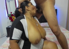 Indian Wife sucks husband's dick