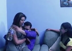 Desi sex, Indian stepbrother and breast-feed have threesome fuck