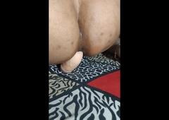Desi Neha taking 8 inch dildo in very tight bore