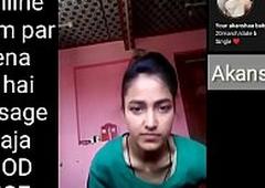 Indian school girl making Selfie pellicle for her boyfriend