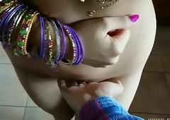 Blue saree daughter blackmailed made-up to strip, groped, molested and fucked by old grand father desi chudai bollywood hindi sex video POV Indian