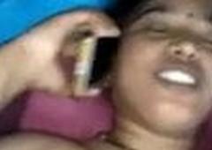 Bengali Bhabhi Fucking with Bf While Talking on Phone