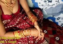 Devar Fucks Newly Partial to Bhabhi's Pussy Hard With Hindi Audio