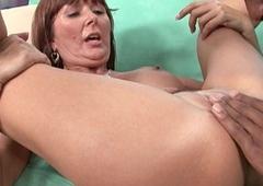 Mummy Desi Foxx unloads a dastardly cock on her face