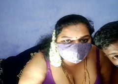 Horny Indian plumper wife gives blowjob
