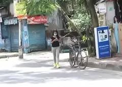 Damn hot desi Bhabhi doing yoga and getting fucked subsequently