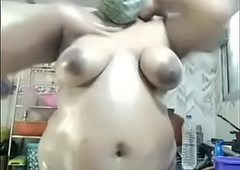 Indian aunty kitchen affectation