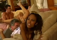 Alter kocker has to tie up loose ends after his overweening nephew who invited couple of interracial dissolute chicks Lacey Duvalle and Olivia Saint and pulled a Monica