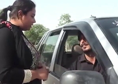 Indian Hawt Women Cheats For Tighten one's belt With Car Romance