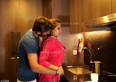 Hot Indian Bhabhi Getting Fucked Beside Kitchen & Bedroom