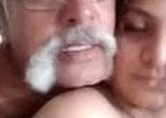 Cheating wife sucking boss' cock deepthroat