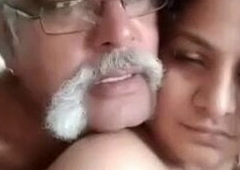 Indian superannuated man with beamy cock