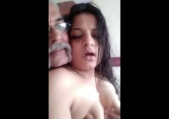 Desi Rich Age-old Sponger Fucks Young Indian Girl in Hotel Room