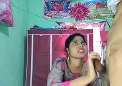 Horney Indian gf fuck alone in home