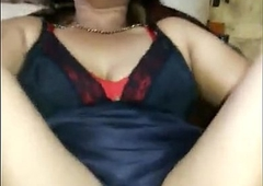 Desi aunt with her legs spread wide apart expose her pussy