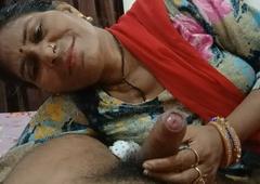 Desi girl sucking a big dick