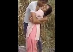 Indian Bhabhi Blackmailed  In Sugar can field By Village Chum