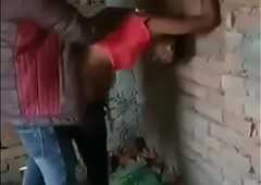 Indian ladyman screwing outside with two boys