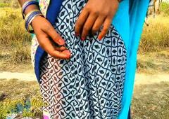 Outdoor Injoy Indian Dehati Bhabhi Nude In Sexy Saree Desi
