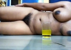 Indian wife engulfing cock