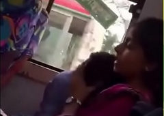 Bangladeshi bf and gf close to local Bus