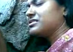 Cute Bengali Girl'_s Boobs Fondeled By Her Boy Friend Behind The Rocks