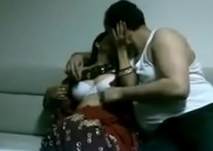 Indian desi join in matrimony in saree shacking up Husband in house